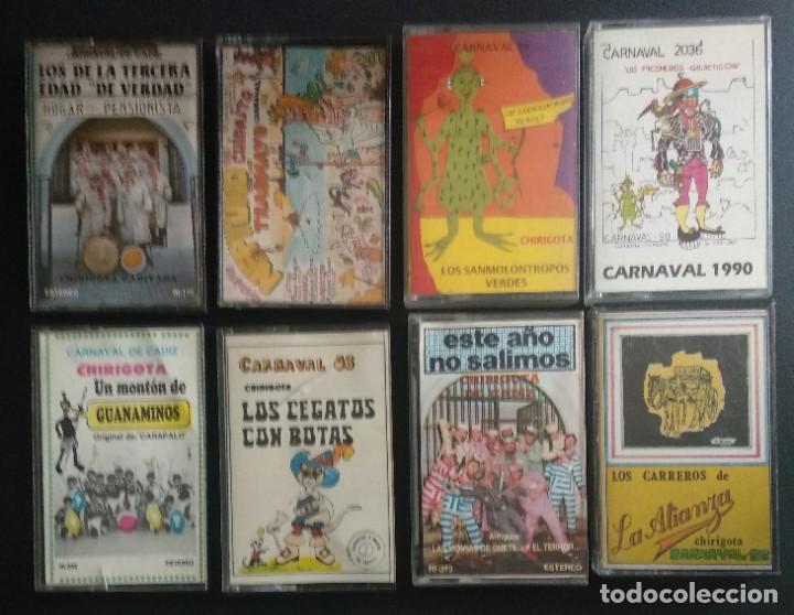 LOTE CHIRIGOTAS AÑOS 80 CARNAVAL CÁDIZ (Música - Casetes)