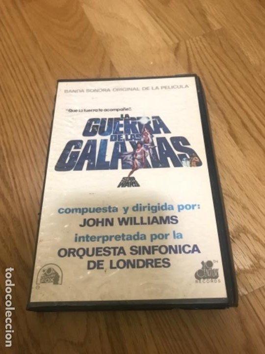 STAR WARS BANDA SONONORA DOS CINTAS CASSETTES Y ESTUCHE AÑOS 70 80 (Música - Casetes)