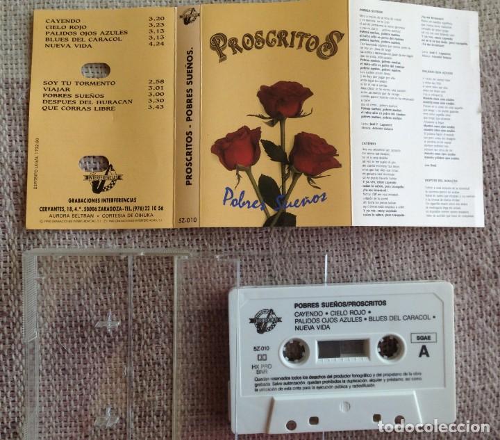 Casetes antiguos: Proscritos - Pobres sueños - Casete - Grabaciones Interferencias, 1990 Edición española - Foto 2 - 199749075