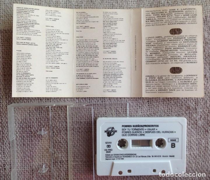 Casetes antiguos: Proscritos - Pobres sueños - Casete - Grabaciones Interferencias, 1990 Edición española - Foto 3 - 199749075