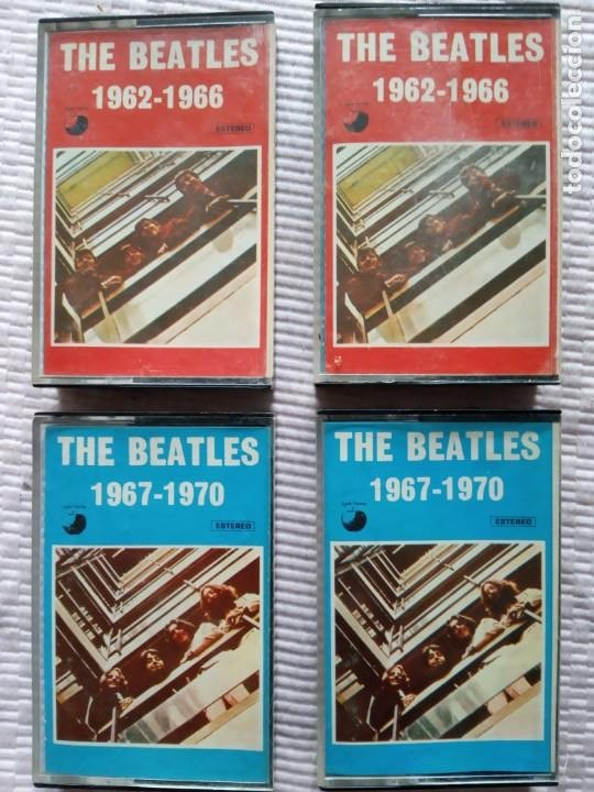 2 ÁLBUMES DOBLES CASSETTES THE BEATLES APPLE RÉCORDS 1973. (Música - Casetes)