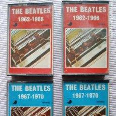 Casetes antiguos: 2 ÁLBUMES DOBLES CASSETTES THE BEATLES APPLE RÉCORDS 1973.. Lote 201666518