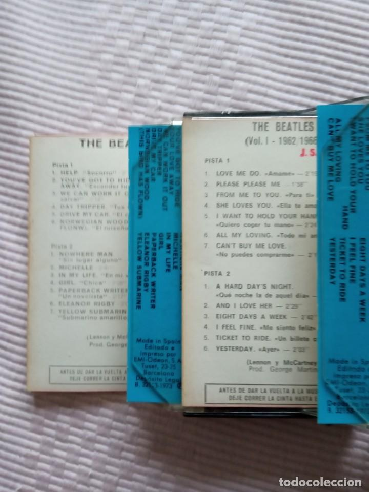 Casetes antiguos: 2 álbumes dobles cassettes the Beatles Apple récords 1973. - Foto 4 - 201666518