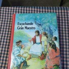Cassette antiche: 4 CASETES Y UN LIBRO EN SU CAJA PRESENTACIÓN, BUEN ESTADO, ESCUCHANDO AL GRAN MAESTRO,. Lote 214774377
