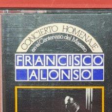 Casetes antiguos: CONCIERTO HOMENAJE FRANCISCO ALONSO CGA DE GRANADA . Lote 202027886