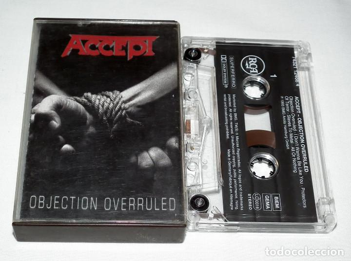 Casetes antiguos: CINTA CASSETTE ACCEPT - OBJECTION OVERRULED - Foto 1 - 202079915