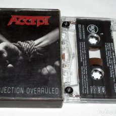 Casetes antiguos: CINTA CASSETTE ACCEPT - OBJECTION OVERRULED. Lote 202079915