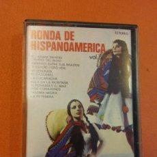 Casetes antiguos: RONDA DE HISPANOAMÉRICA VOL 5. COLUMBIA ESTEREO. Lote 202327291