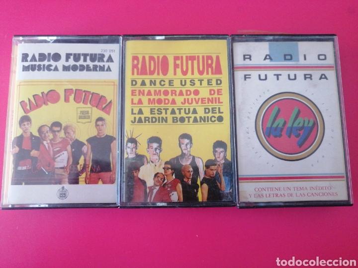LOTE 3 RADIO FUTURA MÚSICA MODERNA LA LEY DANCE USTED K7 CASSETTE CASETE CINTA (Música - Casetes)