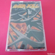 Casetes antiguos: OVER KILL OVERKILL I HEAR BLACK K7 CASSETTE CASETE CINTA. Lote 202776137