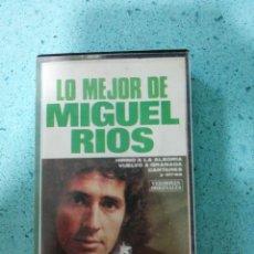 Casetes antiguos: CASETE LO MEJOR DE MIGUEL RÍOS AÑO 1980. Lote 203828640