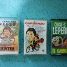 Casetes antiguos: 3 CASETE EL GARBANZO CHISTES NEGRO, LEPEROS Y SEVILLANAS Y CHISTES FIRMADAS Y UNA DEDICADA VER FOTOS. Lote 203857838