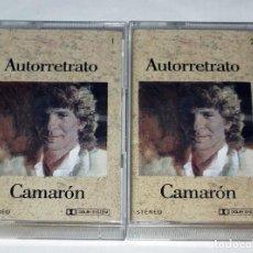 Casetes antiguos: DOBLE CINTA CASSETTE EL CAMARON DE LA ISLA - AUTORRETRATO. Lote 204245133