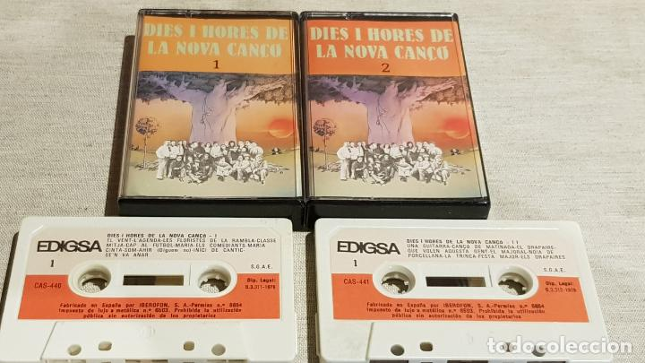 DIES I HORES DE LA NOVA CANÇÓ / DOBLE MC - EDIGSA-1979 / DESPRECINTADOS-SIN ESTRENAR. (Música - Casetes)
