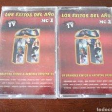 Casetes antiguos: 2 K7 Ñ LOS ÉXITOS DEL AÑO 2000 SANZ ESTOPA JUAN PERRO SABINA CASETE CASSETTE CINTA. Lote 204444791
