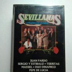 Casetes antiguos: SEVILLANAS .- LA PLAZUELA DE LOS NIÑOS .- PRECINTO DE TIENDA. Lote 205074003