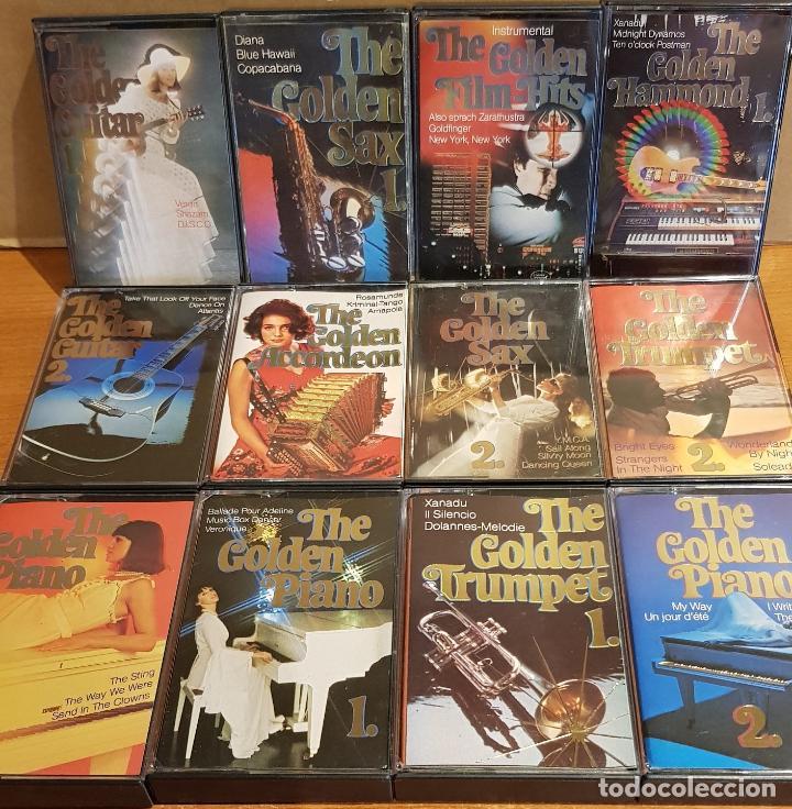 Casetes antiguos: THE GOLDEN GUITAR-SAX-TRUMPET-PIANO-ACCORDEON-FILM HITS / 12 CASETES IMPECABLES / CONJUNTO ESENCIAL. - Foto 2 - 205314726