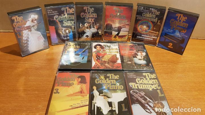 THE GOLDEN GUITAR-SAX-TRUMPET-PIANO-ACCORDEON-FILM HITS / 12 CASETES IMPECABLES / CONJUNTO ESENCIAL. (Música - Casetes)
