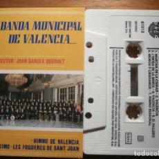 Casetes antiguos: CINTA DE CASSETTE - BANDA MUNICIPAL DE VALENCIA - JOAN GARCES QUERALT - DOBLÓN 1993. Lote 205599452