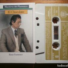 Casetes antiguos: CINTA DE CASSETTE - EL CHOCOLATE - RAZA FLAMENCA - MAESTROS DEL FLAMENCO - HISPAVOX 1988. Lote 205600000