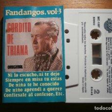 Casetes antiguos: CINTA DE CASSETTE - GORDITO DE TRIANA - FANDANGOS VOL.-3 - PERFIL 1991. Lote 205601726