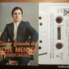 Casetes antiguos: CINTA DE CASSETTE - CANTE GRANDE DE JOSÉ MENESE - INDALO 1979. Lote 205601985
