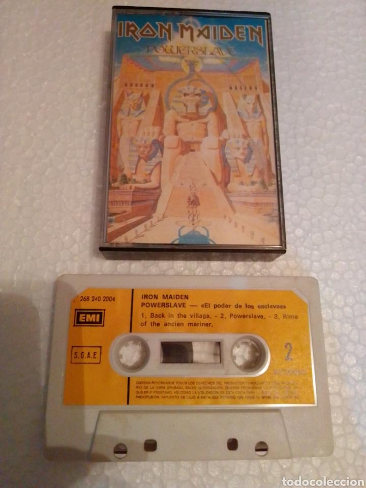 CASETE HEAVY IRON MAIDEN POWERSEAVE EMI AÑOS 80 (Música - Casetes)
