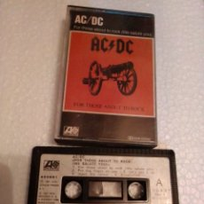Casetes antiguos: CASETE HEAVY ACDC FOR THOSE ABOUT TO ROCK AÑOS 80. Lote 205685686