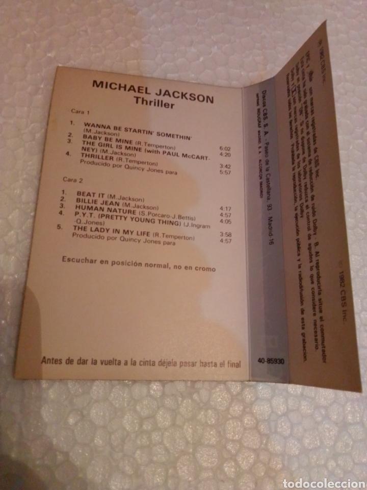 Casetes antiguos: Solo carátula del casete Michael Jackson Thriller - Foto 2 - 205685853