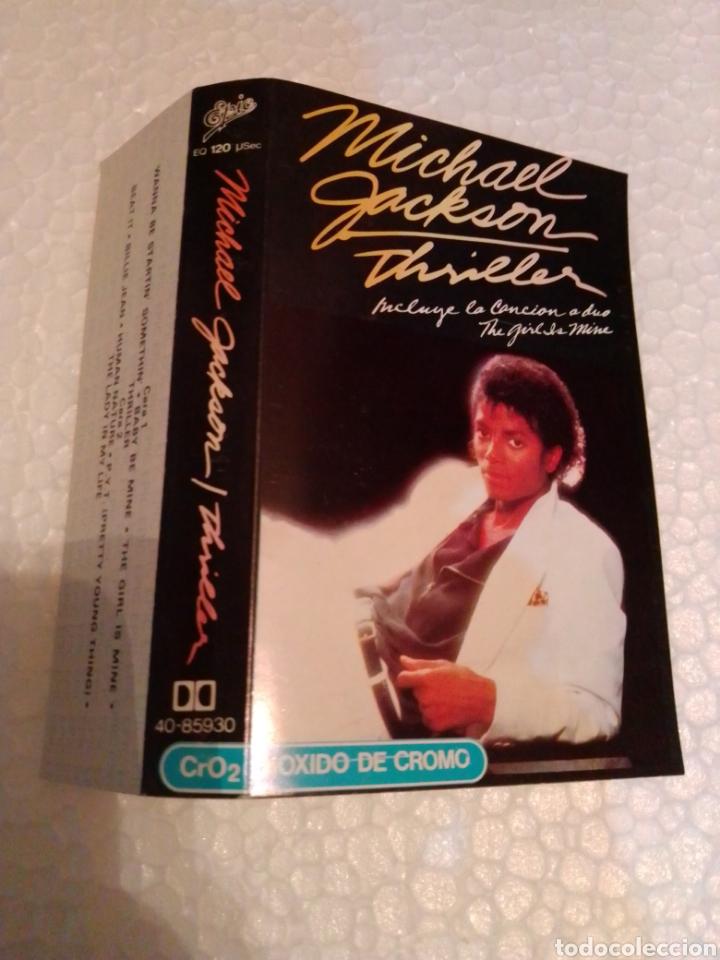 SOLO CARÁTULA DEL CASETE MICHAEL JACKSON THRILLER (Música - Casetes)