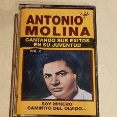 Casetes antiguos: ANTONIO MOLINA / CANTANDO SUS ÉXITOS EN SU JUVENTUD. VOL. 6 / MC - EMI-1992 / IMPECABLE.. Lote 206269460