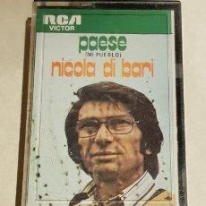 Casetes antiguos: NICOLA DI BARI / PAESE ( MI PUEBLO ) / MC - RCA-1973 / IMPECABLE.. Lote 206272735