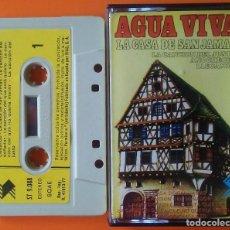 Casetes antiguos: AGUAVIVA LA CASA DE SAN JAMAS LAYVEL 1977. Lote 206758235