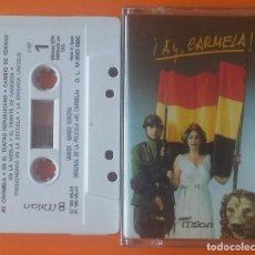 Cassetes antigas: B.S.O. AY CARMELA! MILAN/CBS 1990. Lote 206765203