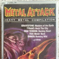 Casetes antiguos: METAL ATTACK VOL 1 - HEAVY METAL COMPILAION - CASETE OPEN RECORDS 1990 PRECINTADO. Lote 207025623