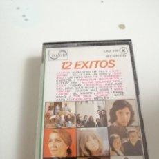 Casetes antiguos: G-50P CASETE MUSICA 12 EXITOS ZAFIRO. Lote 207329746