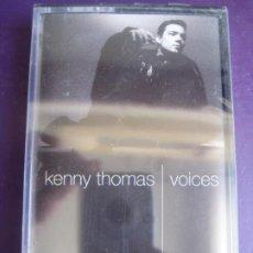 Cassettes Anciennes: KENNY THOMAS – VOICES CASETE COOLTEMPO 1991 PRECINTADA - NUEVO SOUL POP DOWNTEMPO JAZZ - SADE. Lote 207369398