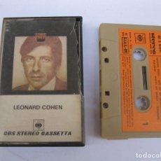 Casetes antiguos: CASETE - LEONARD COHEN - CBS - EDICIÓN ITALIANA - AÑO 1972.. Lote 207860165