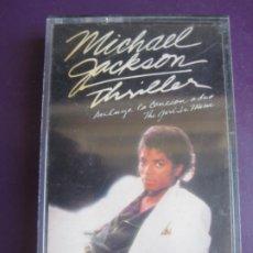 Cassettes Anciennes: MICHAEL JACKSON CASETE EPIC 1982 - THRILLER - DISCO POP - LIGERAS SEÑALES DE USO. Lote 231582180