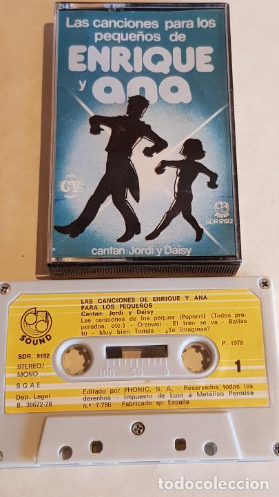 JORDI Y DAISI / LAS CANCIONES PARA LOS PEQUEÑOS DE ENRIQUE Y ANA / MC-SOUND-1978 / IMPECABLE. (Música - Casetes)