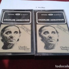Casetes antiguos: CASETE 2X CASSETTE CHARLES AZNAVOUR DOBLE MOVIEPLAY - 24 GRANDES EXITOS ORO FRANCIA CHANSON. Lote 209254576