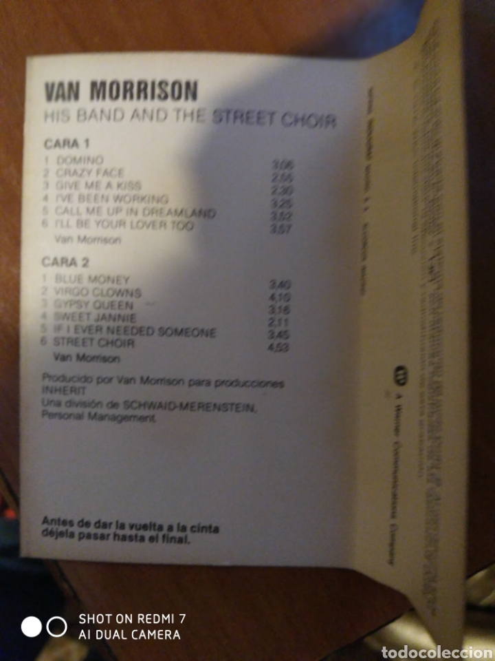 Casetes antiguos: Van Morrison. His band and the street choir. - Foto 4 - 209634367