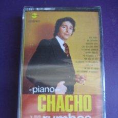 Casetes antiguos: EL PIANO DE CHACHO Y SUS RUMBAS CASETE MARFER PRECINTADA 1975 - RUMBA CATALANA - PERET. Lote 210387630