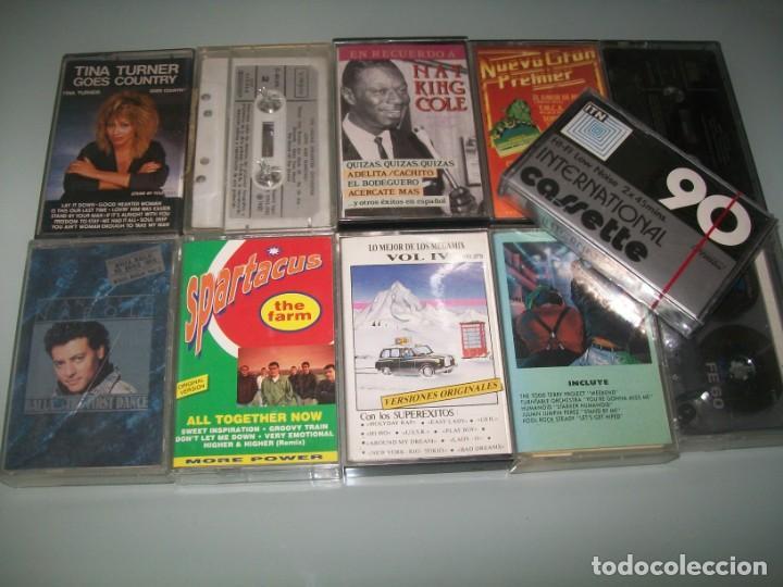 LOTE DE CASETES 11 TOTAL - 10 CASETES NORMALES Y UNA NUEVA PRECINTADA PARA GRABAR (Música - Casetes)