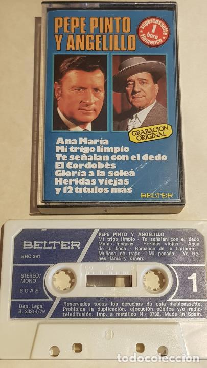 PEPE PINTO Y ANGELILLO / 1 HORA DE FLAMENCO / MC - BELTER-1979 / IMPECABLE. (Música - Casetes)