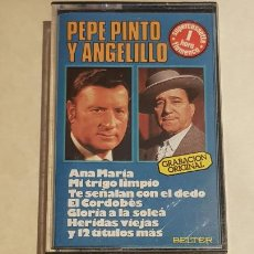 Casetes antiguos: PEPE PINTO Y ANGELILLO / 1 HORA DE FLAMENCO / MC - BELTER-1979 / IMPECABLE.. Lote 210838925