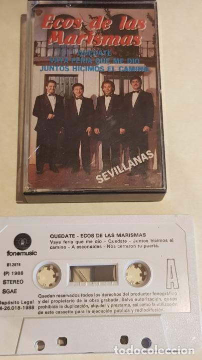 ECOS DE LAS MARISMAS / QUÉDATE / SEVILLANAS / MC - FONOMUSIC-1988 / IMPECABLE. (Música - Casetes)