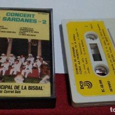 Casetes antiguos: CASETE ( COBLA LA PRINCIPAL DE LA BISBAL DIRECCIÓ CONRAD SALÓ – CONCERT DE SARDANES - 2) DCD 1987. Lote 211439986