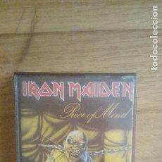 Casetes antiguos: IRON MAIDEN. PIECE OF MIND. CASSETTE. EMI (1988). SPAIN.. Lote 211483504