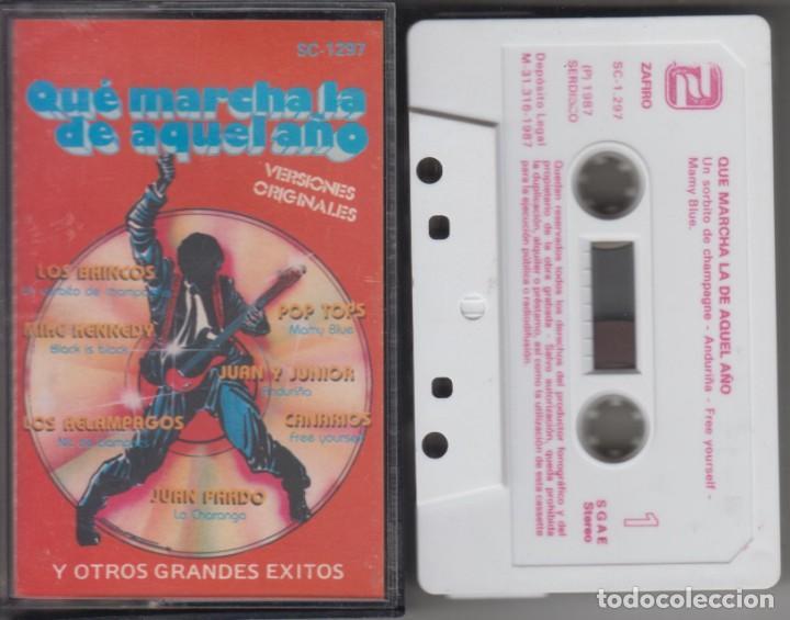 QUÉ MARCHA LA DE AQUEL AÑO CASSETTE 1987 JUAN PARDO LOS BRINCOS JUAN Y JÚNIOR MIKE KENNEDY (Música - Casetes)